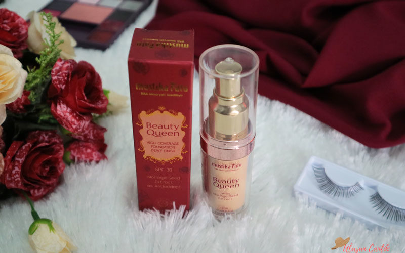 Review Mustika Ratu Beauty Queen High Coverage Foundation dan Makeup Look Untuk Hari Raya