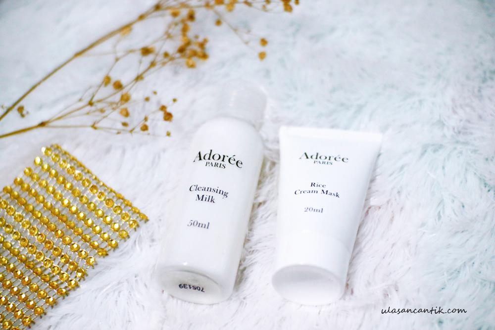 Review Adoree Paris Cleansing Milk & Rice Cream Mask